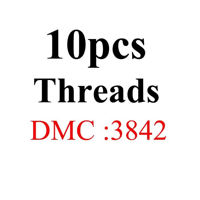 Snowlover, рукоделие, 10 шт./лот, 1,2 м, разные цвета, DMC3824-3848, вышивка крестиком, хлопковое шитье, моток пряжи, нить для вышивки - Цвет: 1.2mthread-DMC3842