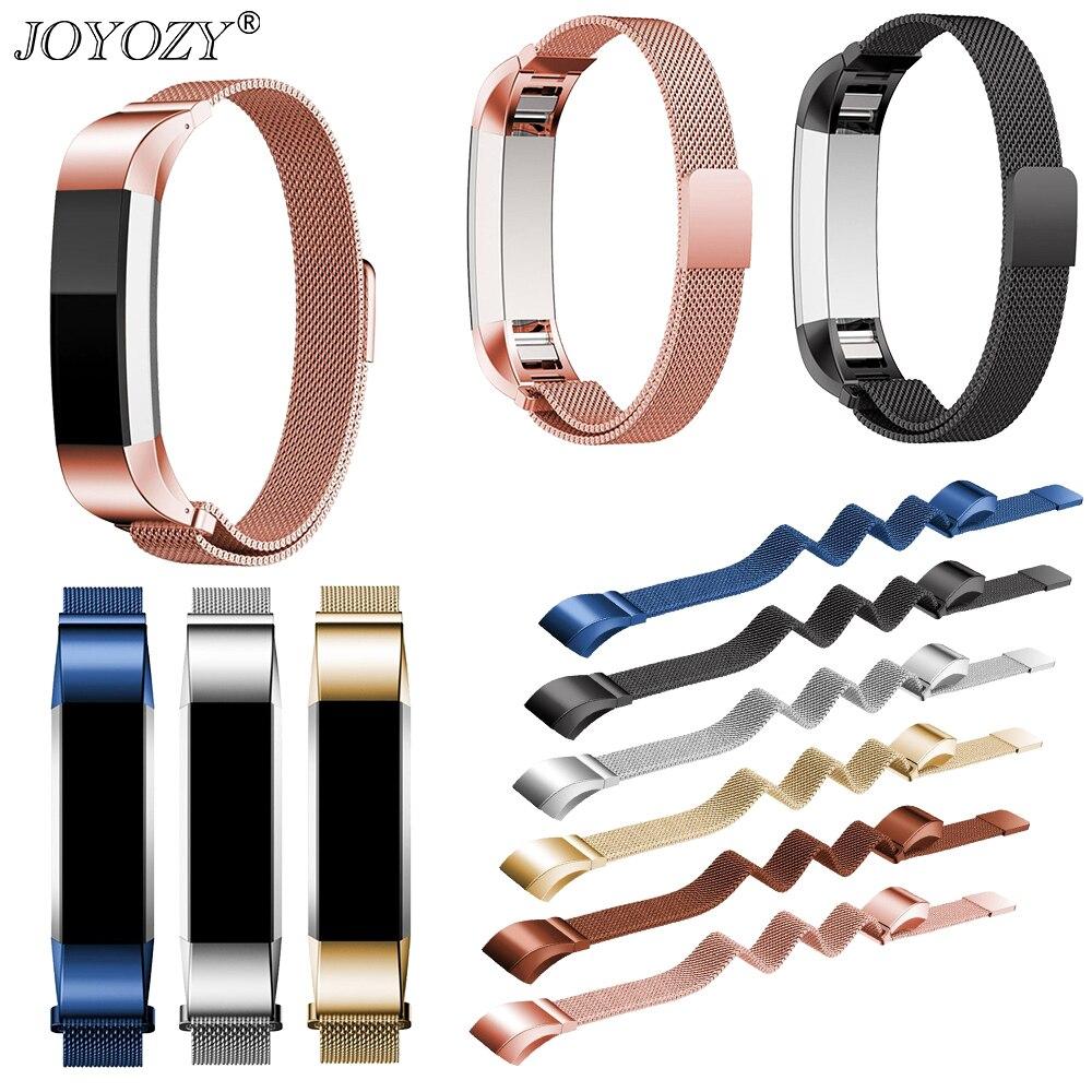Joyozy Mesh Loop Metal Watch Band Strap Bracelet Replacement  Lock Mesh Stainless Steel Band For Fitbit Alta HR/Alta Watchbands