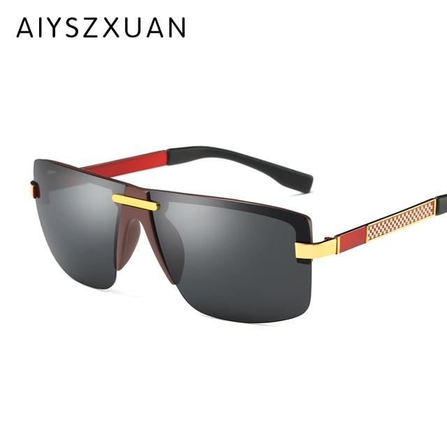 3aa890c9ee AIYSZXUAN 2018 Nuevos Hombres Y Mujeres gafas de Sol Polarizadas Lentes de  Color Brillante Tendencia espejo