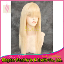 High quality front lace wigs human hair 613 blonde straight virgin brazilian blonde color full lace wigs for women