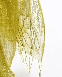 LinenAll Original design Helle Tag Anlage Färben Strukturierte 100% Leinen Schal Schal weibliche