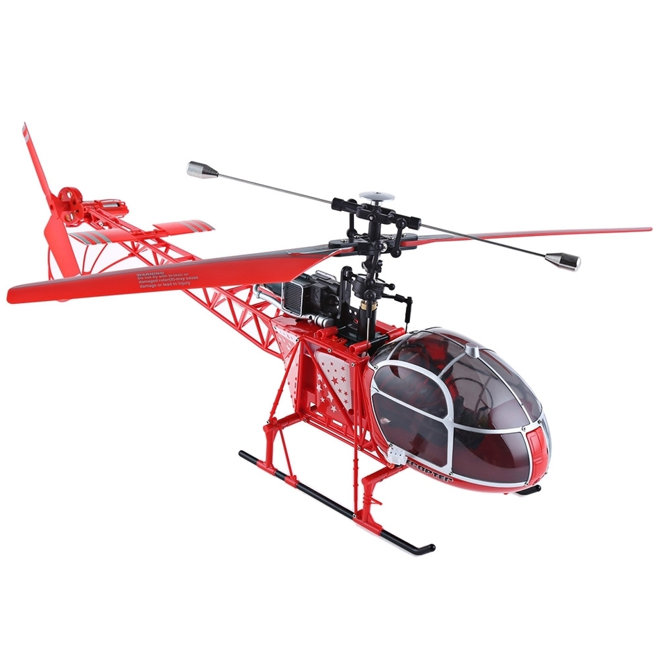 WLtoys V915 Lama RC Drone 4CH 6 Axis Gyro Single Propeller High Simulation Remote Control Helicopter With Flashing Lights Toys original rc helicopter 2 4g 6ch 3d v966 rc drone power star quadcopter with gyro aircraft remote control helicopter toys for kid
