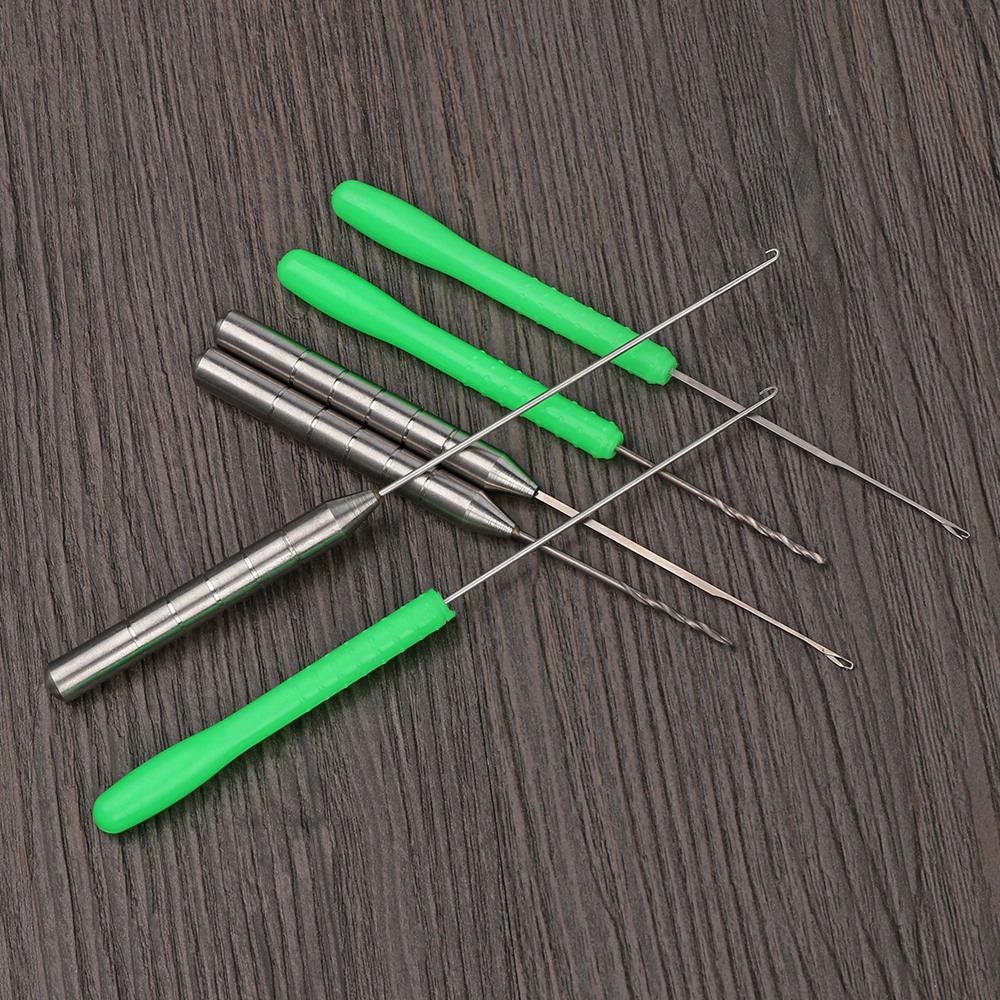 Carp Fishing Rigging Bait Needle Kit Tool Function Fish Rigging Kit Green