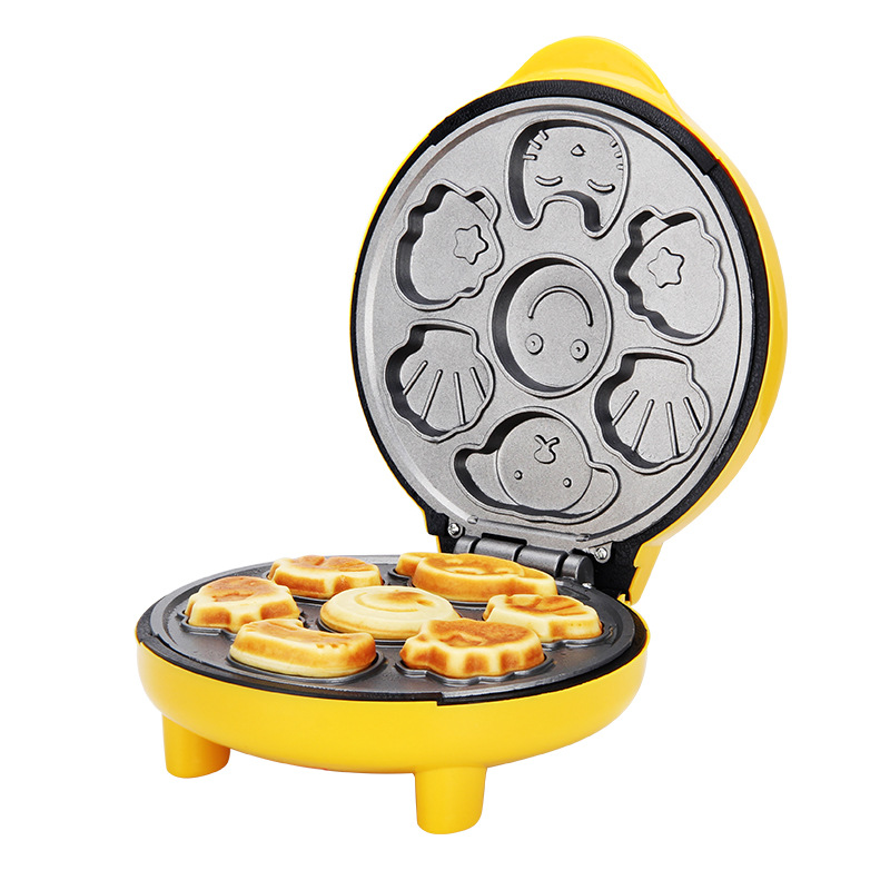 Children Mini Cartoon Waffle Maker Cake Machine With Double Sided Heating To Making Breakfast