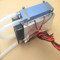 8 Core Semiconductor Thermoelectric Cooler DIY Cold Water Air Conditioner 12v Electronic Powerful Portable Cooling Refrigerator