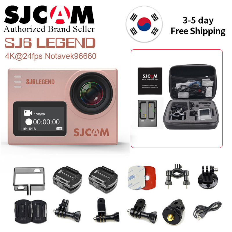 Original SJCAM SJ6 leyenda 4 K 24fps Cámara de Acción Wifi Gyro 2,0 pantalla táctil Notavek 96660 Ultra HD resistente al agua deporte DV SJ Cam