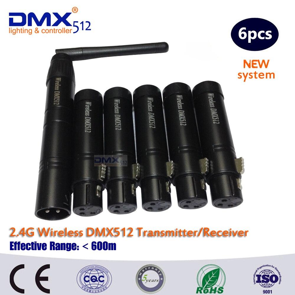 DHL Doprava zdarma LED dmx řadič Bezdrátový přenos 2.4G-DMX převodník vysílá a přijímá DMX 512
