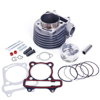 gy6 150cc Chinese scooter Engines 57.4mm cylinder with piston kit for 4 t 157qmj jonway znen roketa ATV moped