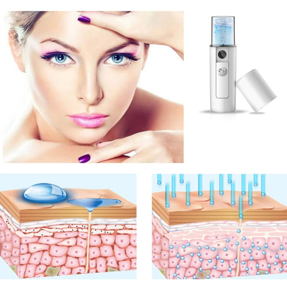 Facial Moisturizing Beauty Instrument USB Charging Portable Nano Mist Spray Handy Atomization Mister Device Beauty Tool