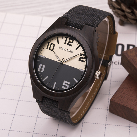 BOBO BIRD Wood Watch Men Women Lover Quartz Movement Wristwatch Causal Sport Stylish Timepiece Gift to Boy friend Girl friend Islamabad