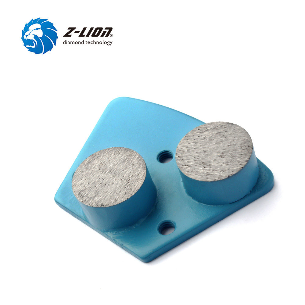 Z-LION 3pcs Metal Trapezoid Diamond Floor Grinding Discs 2 Diamond Bar Grinding Heads Plate for Concrete Terrazzo Floor