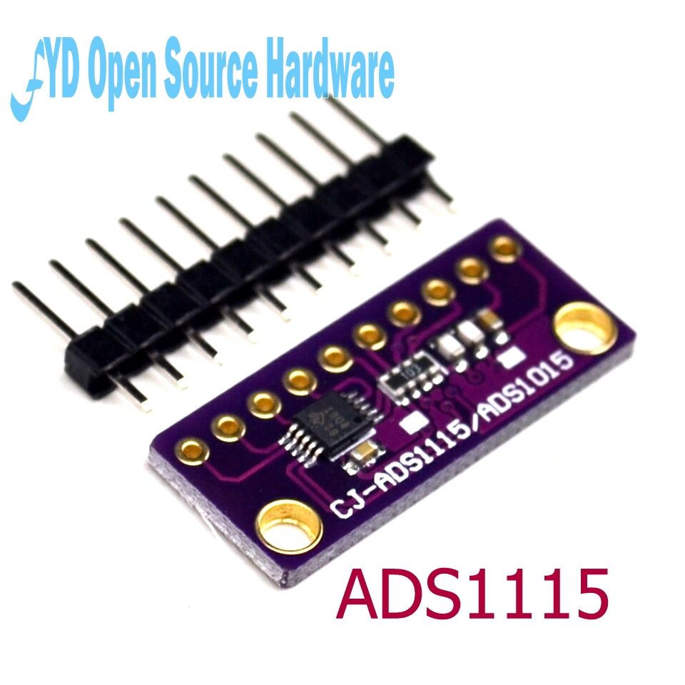 I2C <font><b>ADS1115</b></font> <font><b>16</b></font> <font><b>Bit</b></font> <font><b>ADC</b></font> 4 channel <font><b>Module</b></font> for arduino with Programmable Gain Amplifier 2.0V to 5.5V image