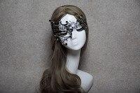 Phantom Men Woman Venetian Mask Masquerade Metal Masks Skull Face Half Halloween Party Masks