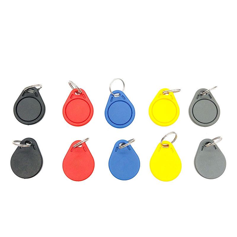100pcs UID RFID Tag Keyfob For Mif 1k S50 13.56MHz Writable Mif 0 Zero HF ISO14443A Used To Copy Cards