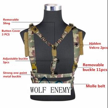 équipement D'hiver Militaire   Gilet Tactique Militaire Airsoft Molle Système Profil Bas Poitrine Plate-Forme Amovible D'arme à Feu De Chasse Airsoft Paintball Équipement