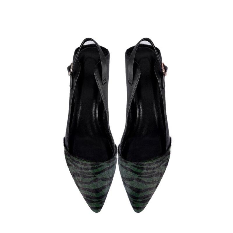 Tous Réel Chaussures 2 Fourrure green De black 5 Talons Black En Femmes 2019 Véritable Haut Leather Cm Martre Cuir Fur Sandales Bout Pointu Cheveux EnqOWcU0