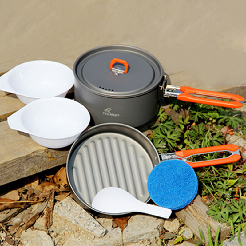 1-2 Persona Olla Cookware Que Acampa Al Aire Libre Olla Establece Camping Sender
