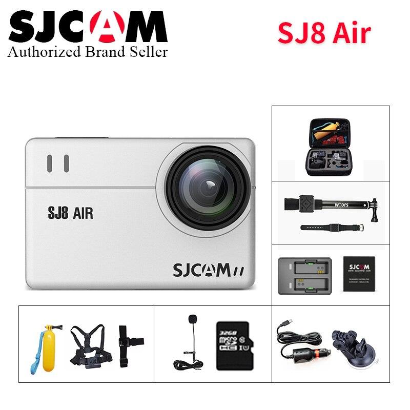 Original SJCAM SJ8 Air wifi caméra d'action 14MP Novatek NT96658 écran tactile 30 M étanche sport DV sj cam pk h9r yi 4 k Camara