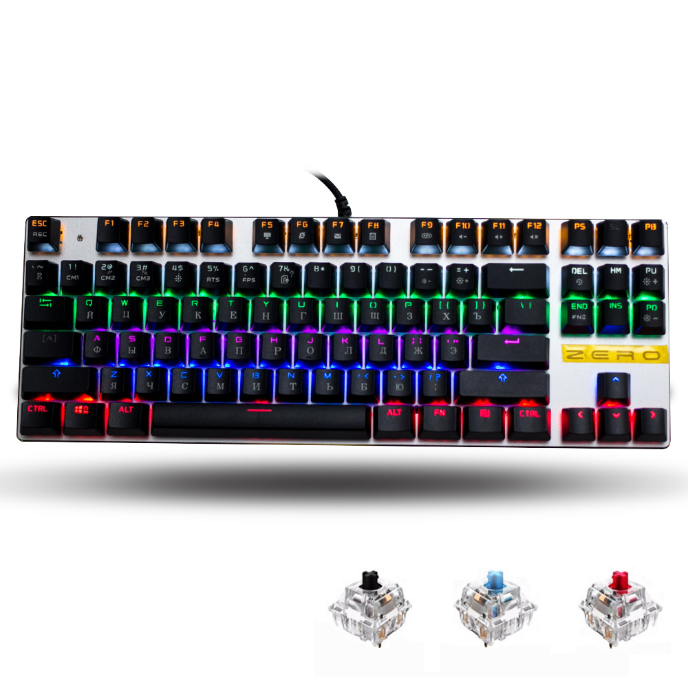 Me Too English/Russian/Spanish gaming Mechanical Keyboard 87/104 keys usb Wired keyboard blue/red/black switch Backlit Keyboard me too gaming keyboard 87 104 keys blue red black switch wired led backlight mechanical keyboard for computer laptop games gamer