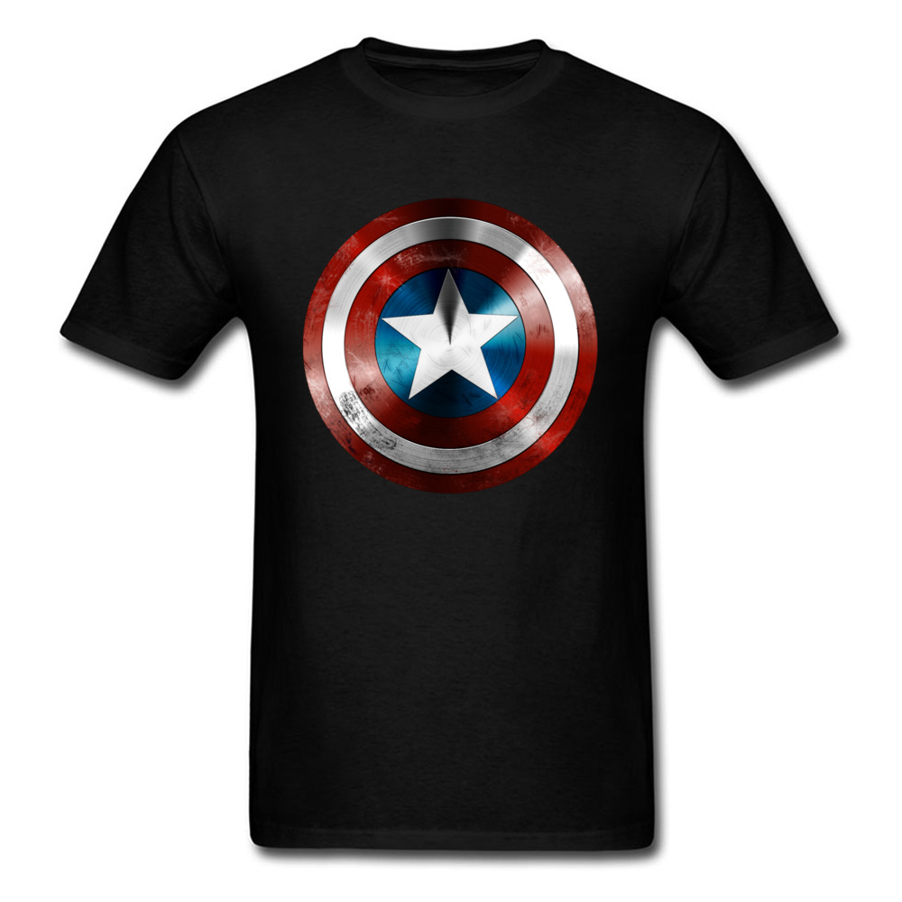 Get This Man A Shield   T  -  shirt   Captain America   T     Shirt   3D Tops Tees Fashion Black Tshirt Avengers Team Clothing Cotton