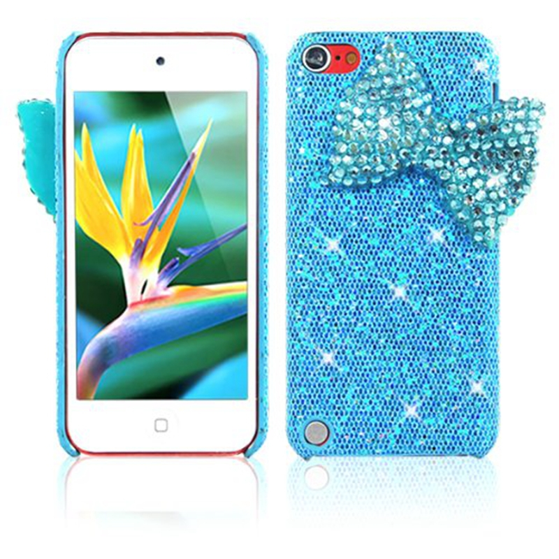 release date b2413 92fd2 US $4.99 |3D Bling Glitter Bow Bowknot PC Case Cover Shell Defender for  iPod Touch 5 Fashion Crystal Diamond Hard Back Cover on Aliexpress.com | ...