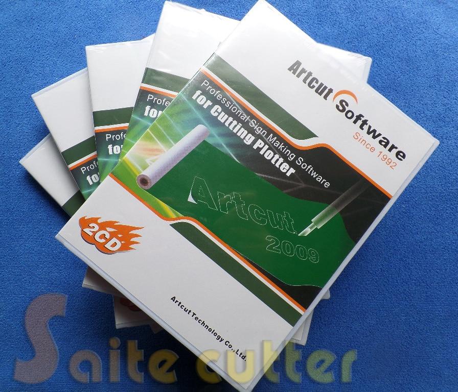 Free Shipping ARTCUT Software 2009 Vinyl Cutter Plotter Cutting Plotter Vinyl Sign Making Design Artcut2009 Software Roland GCC