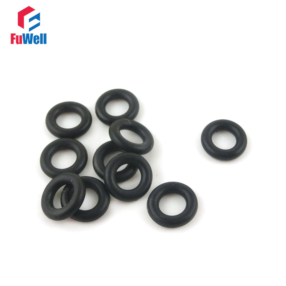 10PCS Oil Heat Resistant 3.1mm Silicone Rubber O-Ring Sealing Ring 13-35mm