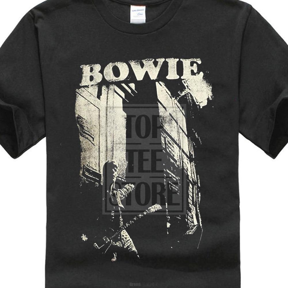 Fashion Unique Classic Cotton Men Impact Merchandising MenS David Bowie Guitar T Shirt
