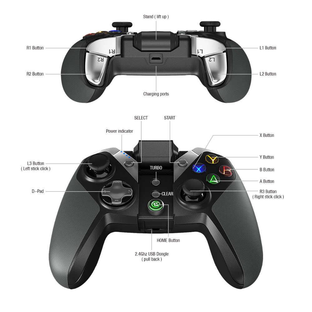 GameSir G4s Moba ゲームコントローラ、 bluetooth のゲームパッドの Android スマートフォン/タブレット/サムスンギア VR/Windows PC/PS3