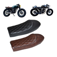 Motorcycle Seat Cushion Motorcycle Refit Flat Vintage Cushion Saddle For Honda CB CL AX100 CG125 New Retro Cafe Racer