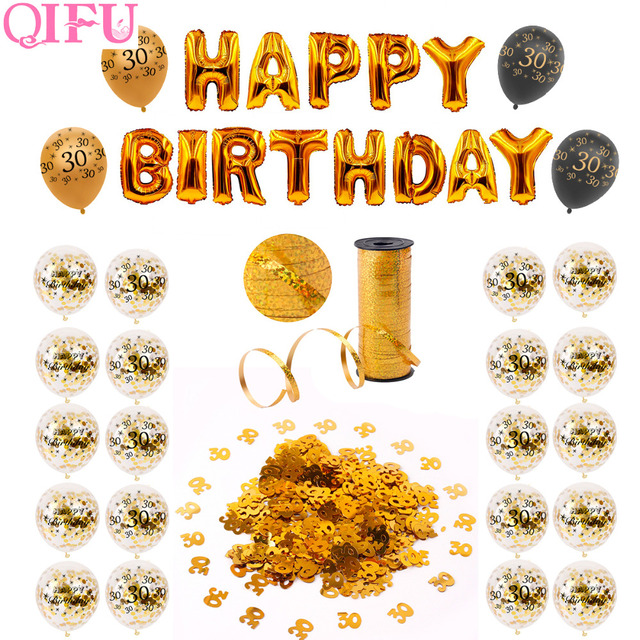 Qifu 40 30 Geburtstag Ballons 40th Geburtstag Dekorationen