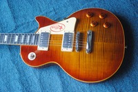 human best sellng Free Shipping Picture real shot 6-Strings Electric Guitar LP Custom 1959 Tiger Jimmy Page Electric Guitar Musi