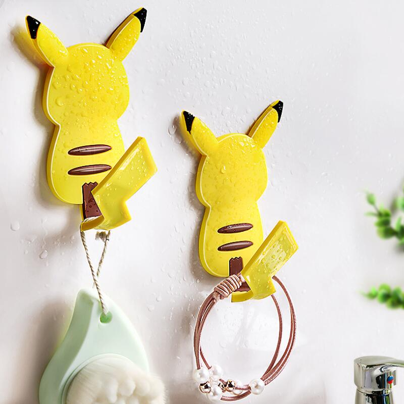 Freely Bendable Tail Pikachu Wall Hooks Minimalist Self Adhesive Key Holder Cat Freely Bendable Tail Hook Home Decoration