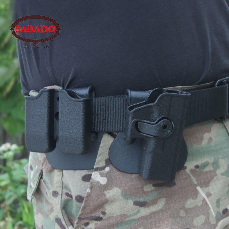 Glock 17 19 22 23 31 32 Pistolet accessoires tactique rotatif Rotatif Étui