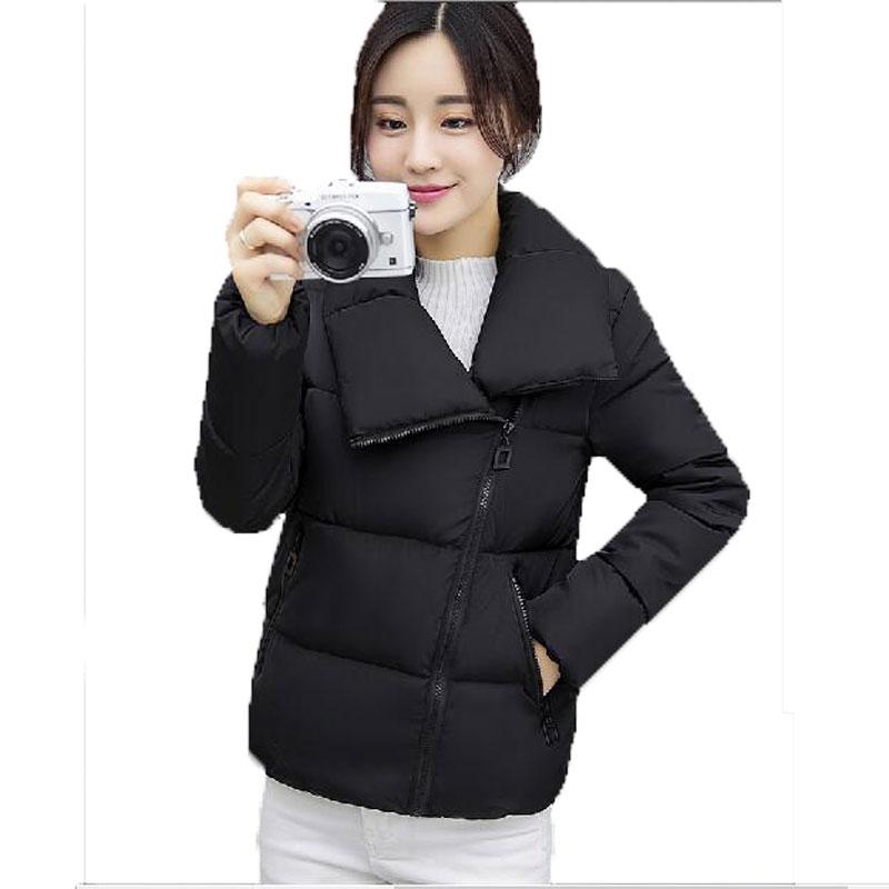 Pamuk Ceket Kadın 2016 Yeni Kış Ceket Kadın Aşağı Pamuk Ceket Kısa Ekmek Parkas Bayanlar Kış Ceket Artı Boyutu FLM1753