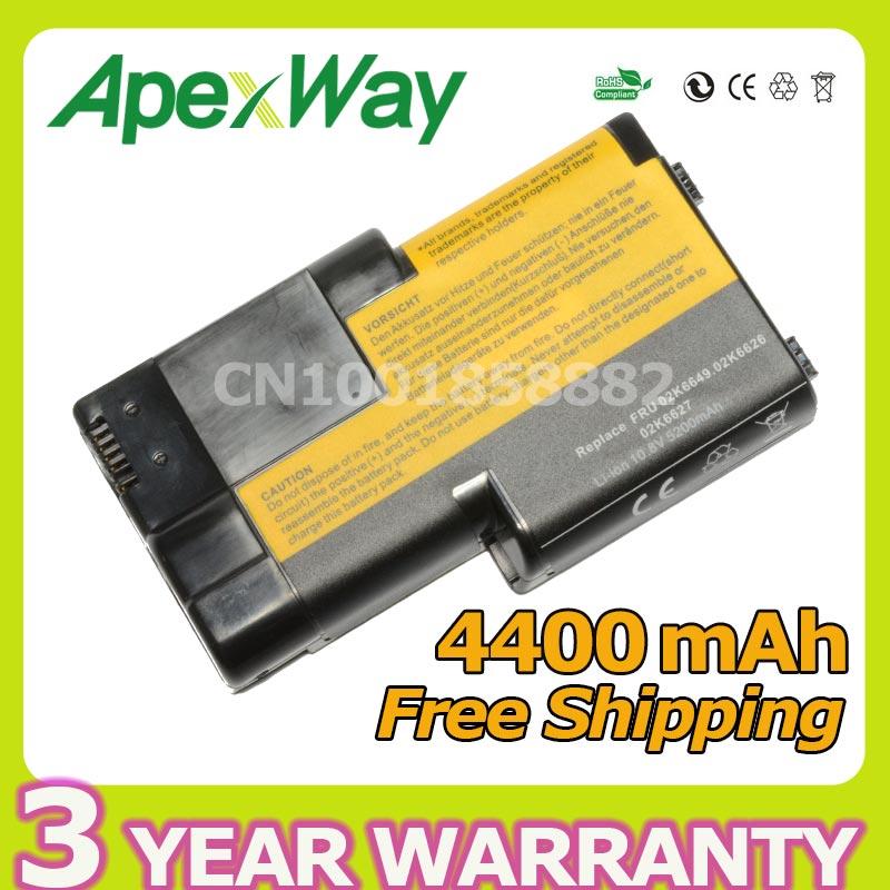 Apexway Remplacement Batterie D'ordinateur Portable Pour IBM ThinkPad T20 T21 T22 T23 T24 02K6620 02K6621 02K6649 02K7025 02K7026 02K7028 02K7030