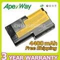 Apexway substituição da bateria do portátil para ibm thinkpad t20 t21 t22 t23 t24 02k6620 02k6621 02k6649 02k7025 02k7026 02k7028 02k7030
