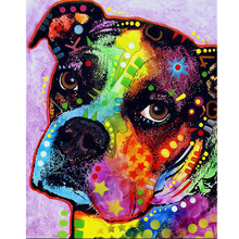Diamond Painting Painted Dog Full Diy  5D Embroidered Mosaic Home Decoration