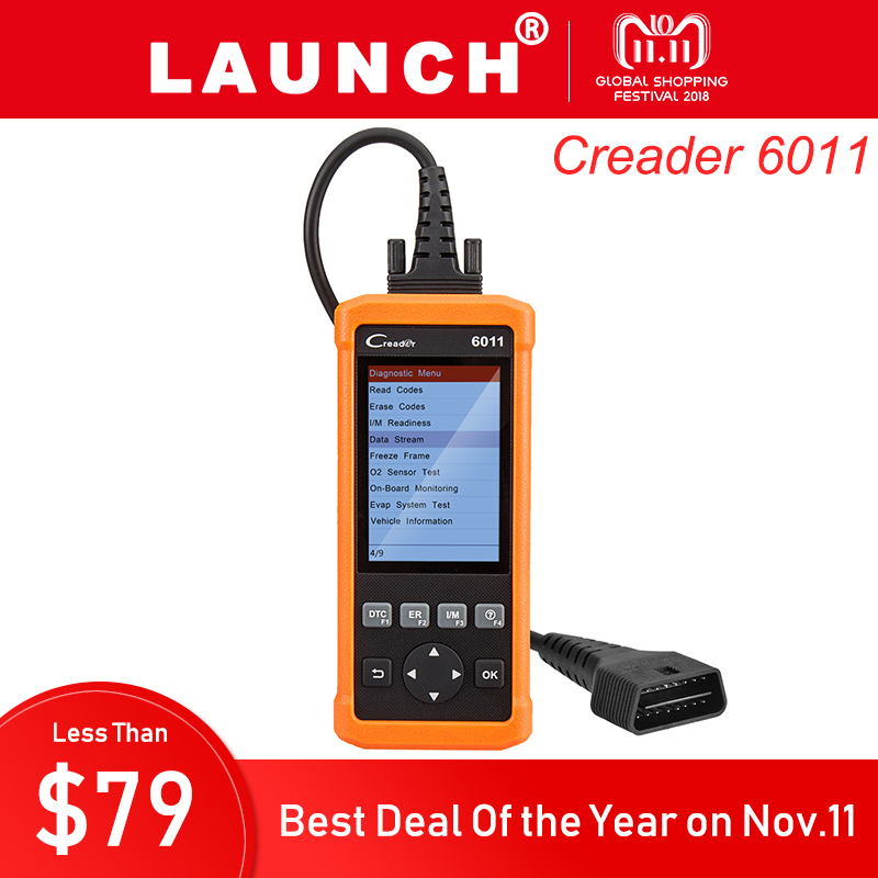 Launch CReader 6011 OBD2 Scanner Automotive ABS SRS Scanner OBD 2 Code Reader Diagnostic Scan Tool Airbag Diagnosis Tools b200 bmw airbag srs scan
