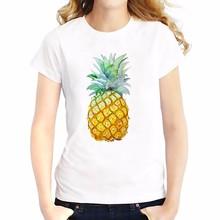 pineapple fashion simple T-Shirt Women Short Sleeve o-neck t shirt soft Breathable girls casual  tshirt