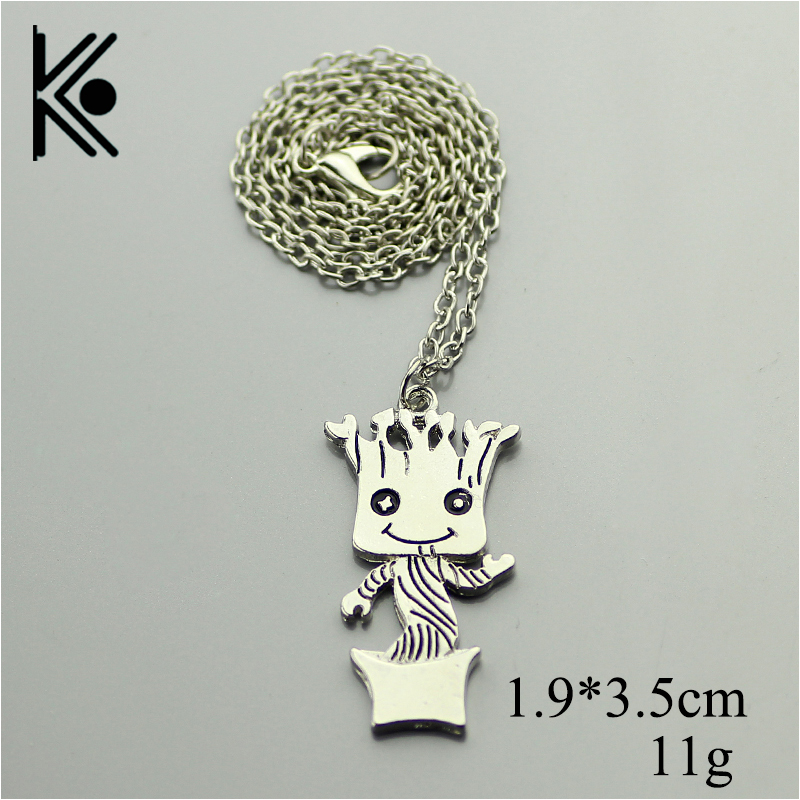 wholesale 20/pc Pendant,Guardians of the Galaxy Necklace,Baby Silver Plated Movie Jewelry,Im Kawaii Jewelry