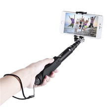 Free shipping Universal Android IOS Phone Folding Extendable Selfie Stick stainless steel smartphone monopod
