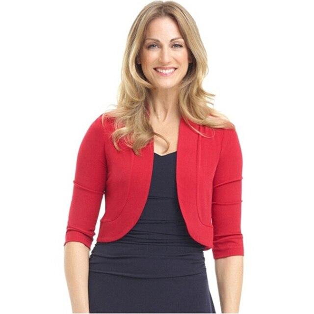 Women Short Shrug Top Big Size XL-5XL Autumn 3/4 Sleeve Cropped Bolero Party Large Feminino Sweater Cardigan Big Size