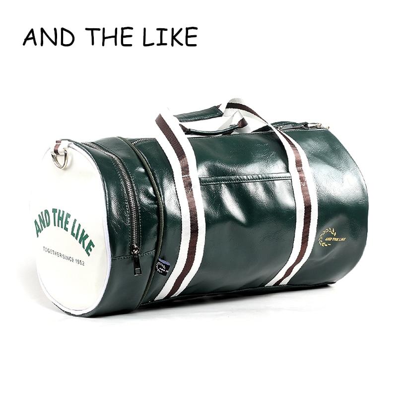 PU Barrel Unisex Gym Bag Фитнес жаттығу тәуелсіз - Спорттық сөмкелер - фото 1