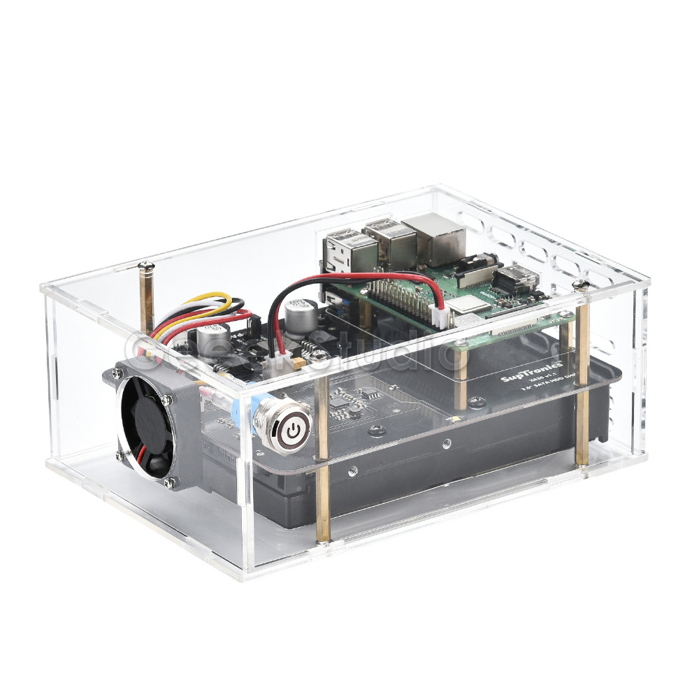 Raspberry Pi X830 V2.0 3.5 inch SATA HDD Hard Disk Drive Storage Expansion Board Kit for Raspberry Pi 3 B+ (Plus) / 3 B / 2 B