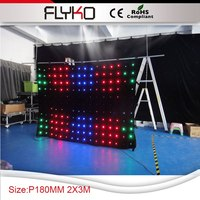 P18 2x3m rgb 풀 컬러 유연한 led 커튼 디스플레이|flexible led curtain|led curtain rgbled full color -