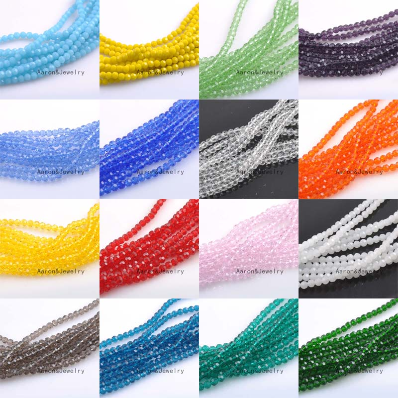 2mm (About 400Pcs) Faceted Austria Crystal Beads charm Glass Beads Loose Spacer