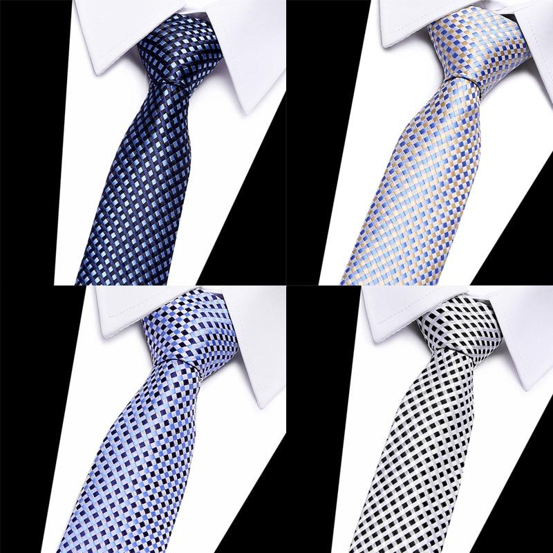 New Fashion 100% Silk Ties Necktie Men Tie 8cm Tie Jacquard Woven Tie  For Men Geometric Corbatas Hombre Business Wedding Party