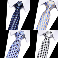 New Fashion 100% silk ties Necktie Men tie 8cm Jacquard Woven  For Geometric Corbatas Hombre Business Wedding Party