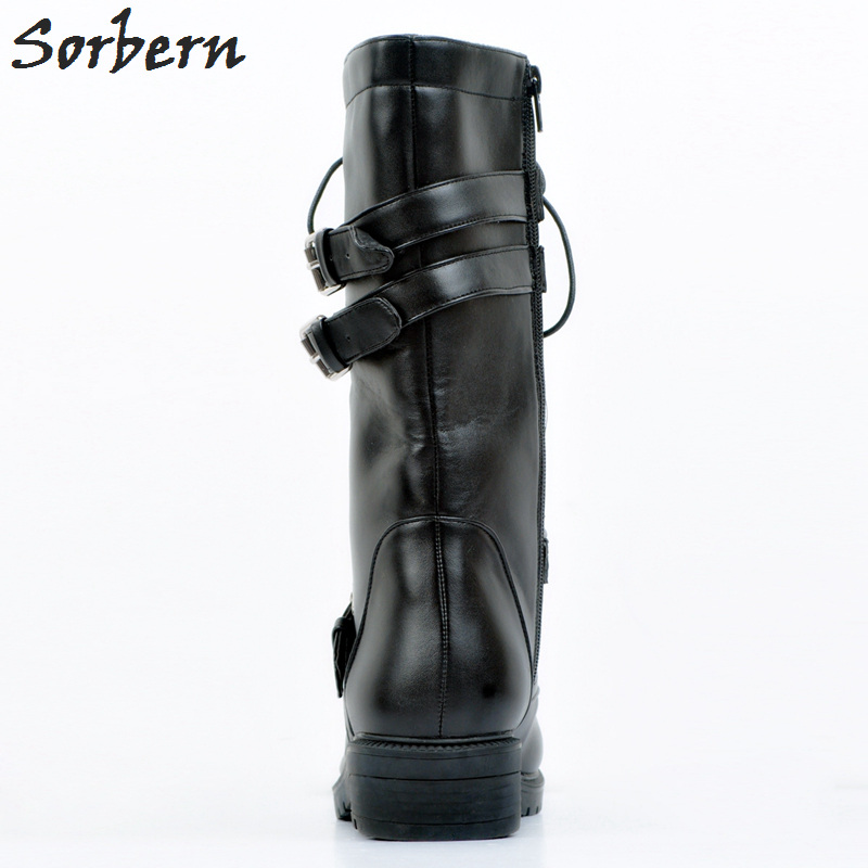 Black Women Boots Plus Size Ankle Boots For Women Botines Mujer Lace Up Botte Femme Ladies Outdoor Chaussures Femme Hot
